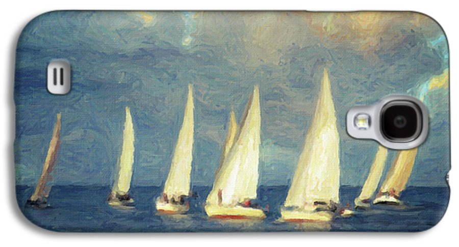 Oil Painting Galaxy S4 Case featuring the painting On A Day Like Today by Taylan Apukovska