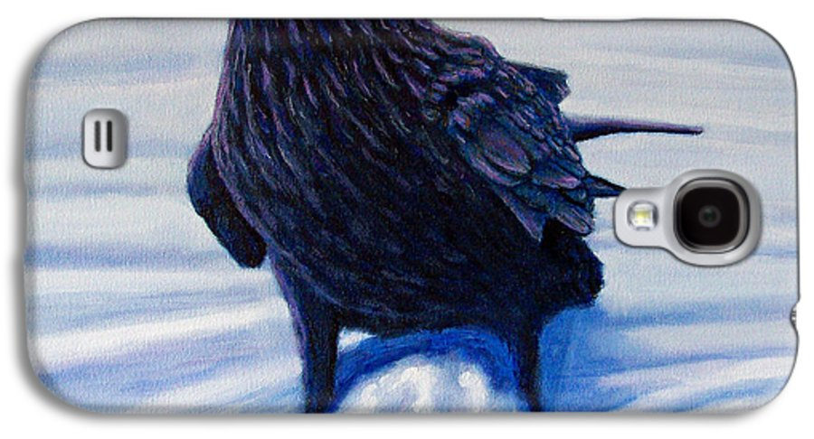 Raven Galaxy S4 Case featuring the painting On Canyon Road by Brian Commerford