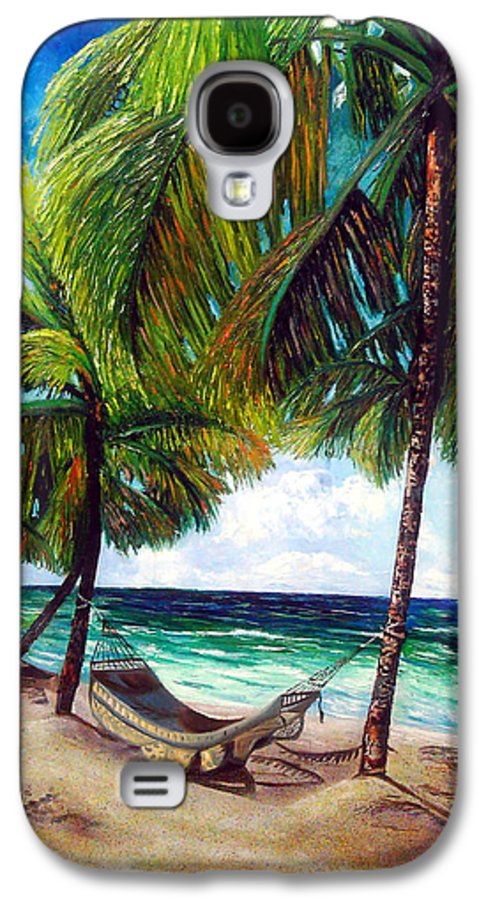 Beach Galaxy S4 Case featuring the painting On The Beach by Jose Manuel Abraham
