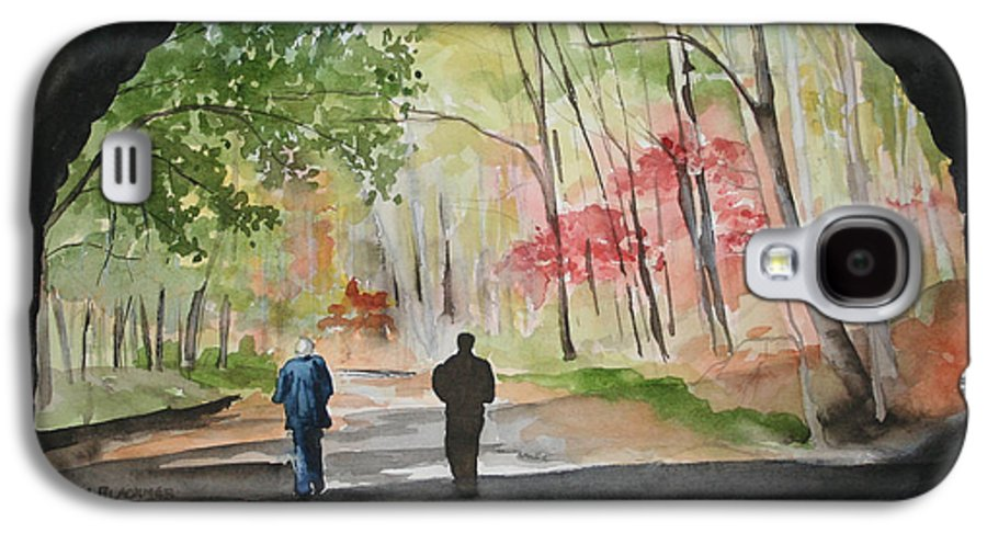 Road Galaxy S4 Case featuring the painting On The Road To Nowhere by Jean Blackmer