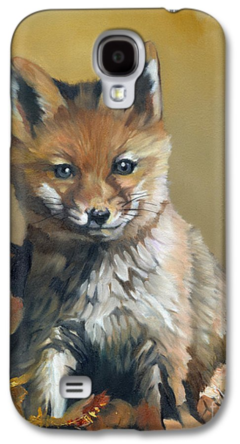 Fox Galaxy S4 Case featuring the painting Once Upon A Time by J W Baker
