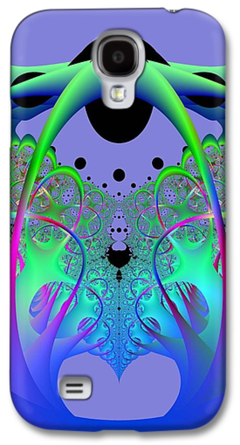 Fractal Galaxy S4 Case featuring the digital art Oodle World by Frederic Durville