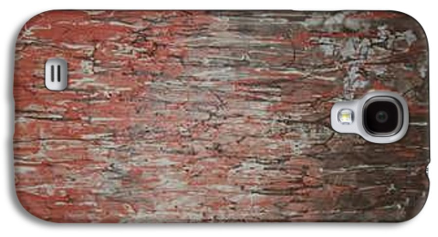 Abstract Galaxy S4 Case featuring the painting Orange Crush by Elizabeth Klecker