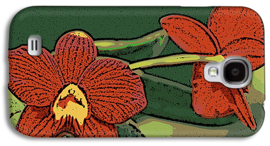 Orchid Galaxy S4 Case featuring the photograph Orange Orchids by Ann Tracy