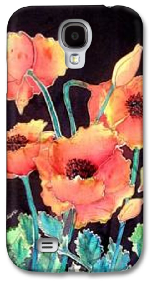 Poppies Galaxy S4 Case featuring the painting Orange Poppies by Francine Dufour Jones