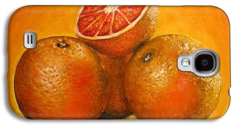 Oranges Galaxy S4 Case featuring the painting Oranges Original Oil Painting by Natalja Picugina