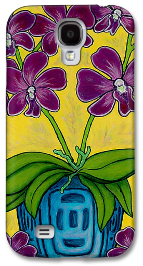 Orchids Galaxy S4 Case featuring the painting Orchid Delight by Lisa Lorenz