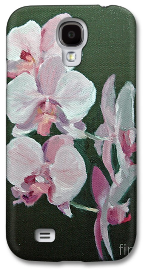 Floral Galaxy S4 Case featuring the painting Orchids For Didi by Glenn Secrest