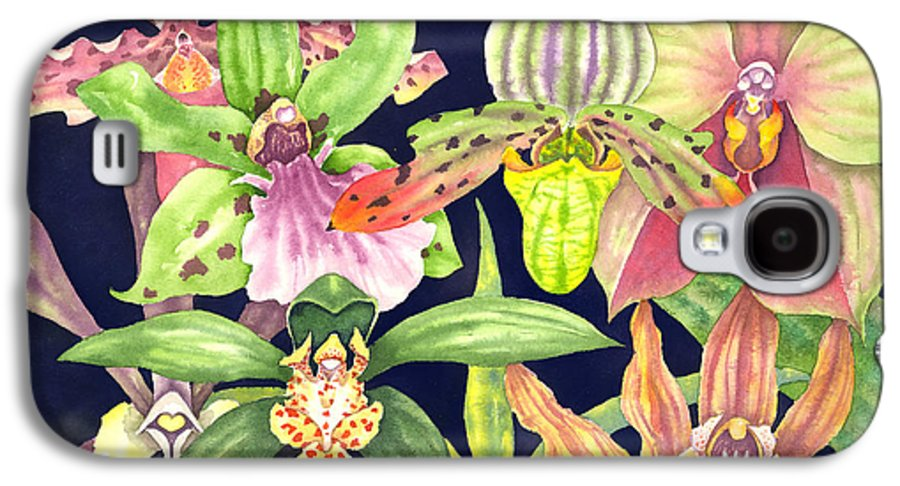 Orchids Galaxy S4 Case featuring the painting Orchids by Lucy Arnold