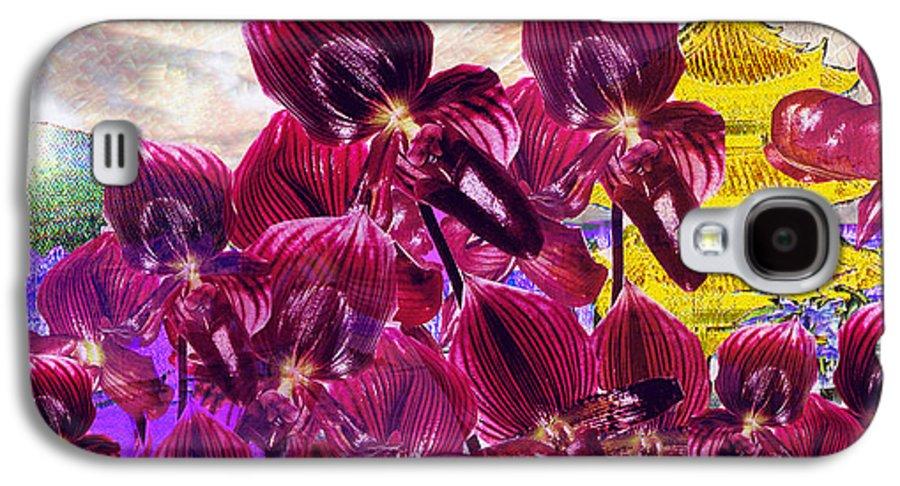 Far East Galaxy S4 Case featuring the digital art Oriental Orchid Garden by Seth Weaver