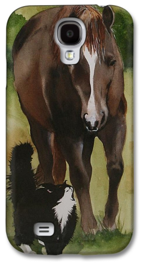 Horse Galaxy S4 Case featuring the painting Oscar And Friend by Jean Blackmer