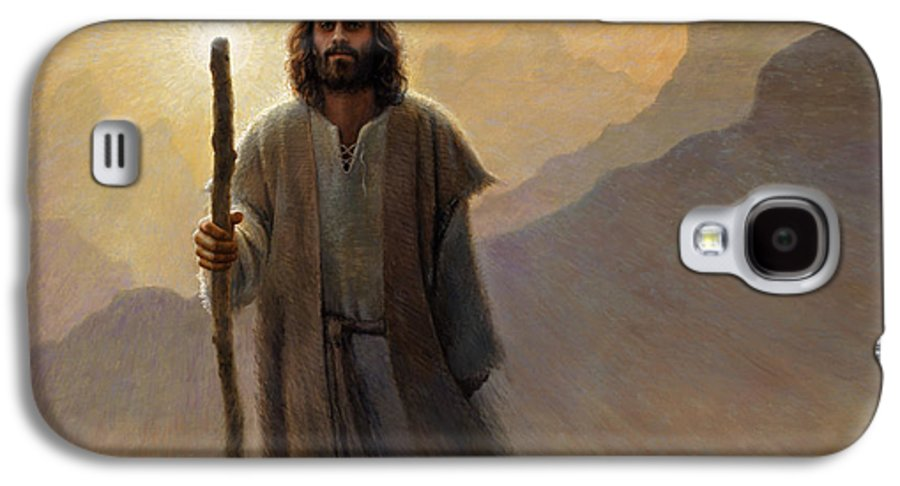 Jesus Galaxy S4 Case featuring the painting Out Of The Wilderness by Greg Olsen