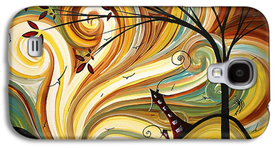 Art Galaxy S4 Case featuring the painting Out West Original Madart Painting by Megan Duncanson