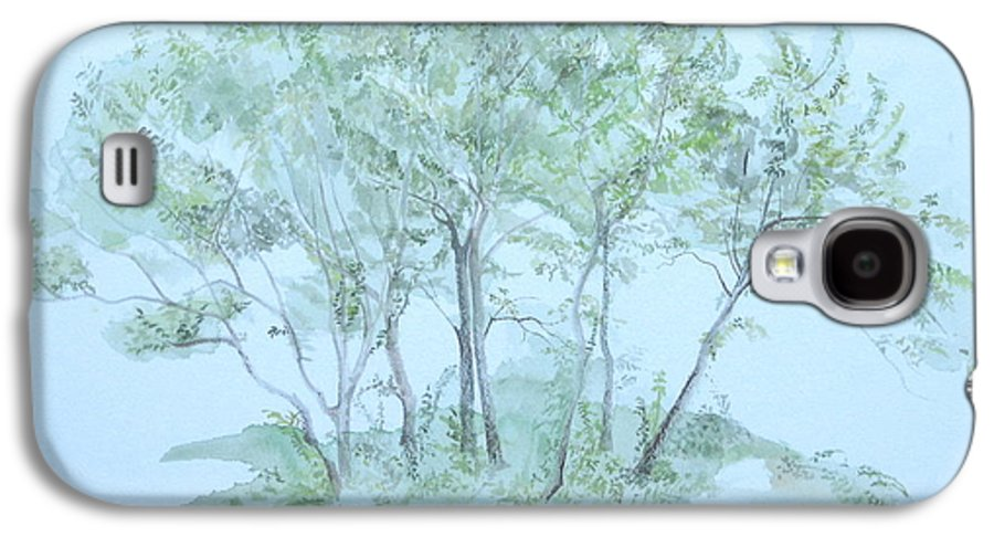 Trees Galaxy S4 Case featuring the painting Outer Banks by Leah Tomaino