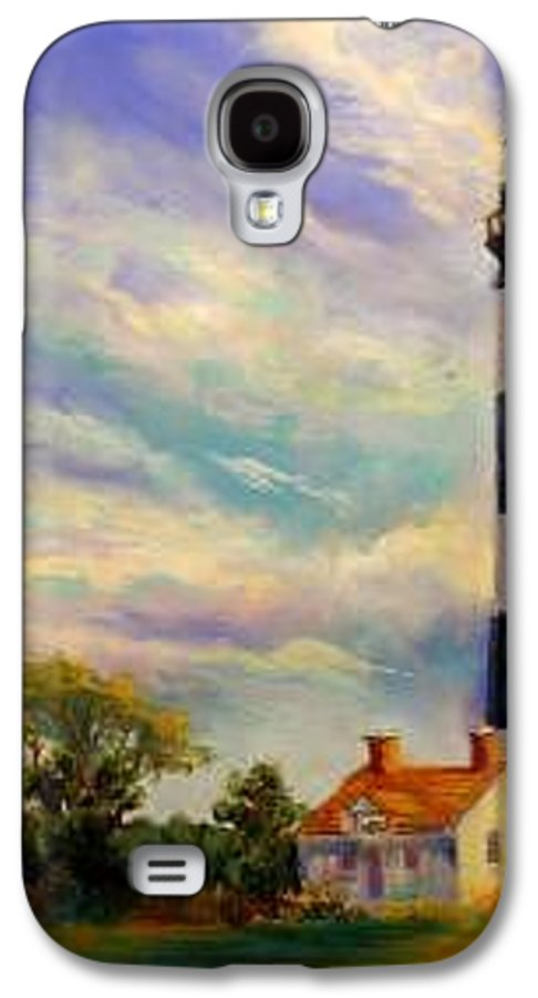 Lighthouse Galaxy S4 Case featuring the painting Outer Banks Lighthouse by Lynee Sapere