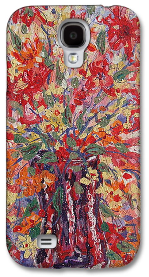Painting Galaxy S4 Case featuring the painting Overflowing Flowers. by Leonard Holland