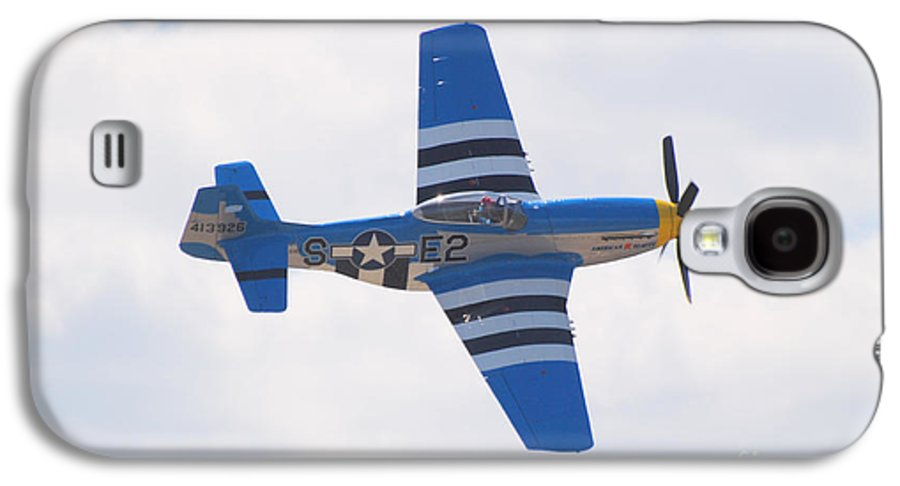 P 51 Galaxy S4 Case featuring the photograph P-51 Mustang American Rose by Larry Keahey
