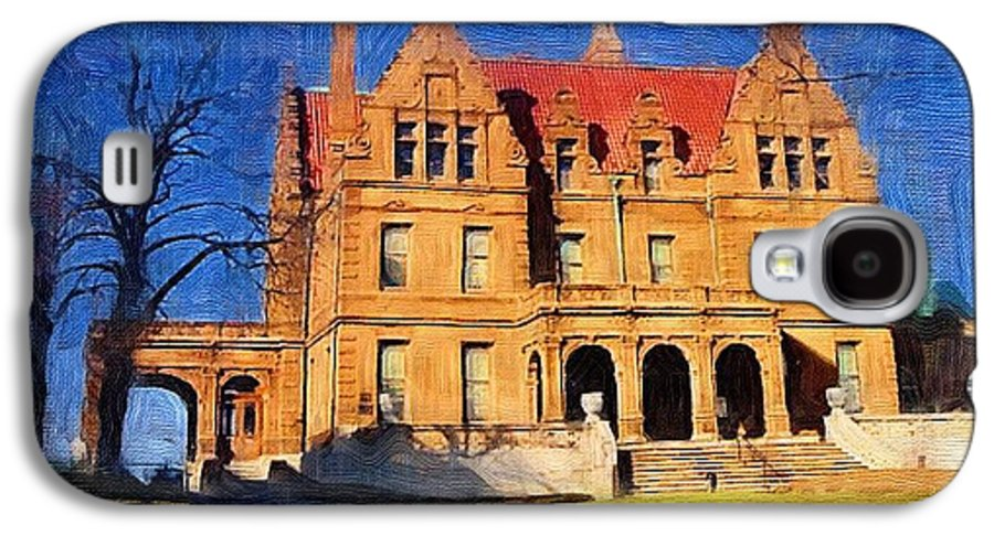 Architecture Galaxy S4 Case featuring the digital art Pabst Mansion by Anita Burgermeister