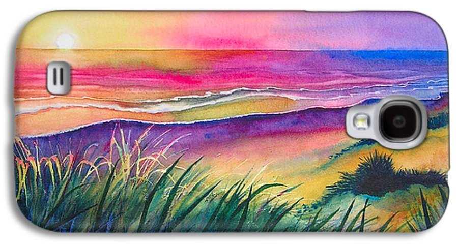 Pacific Galaxy S4 Case featuring the painting Pacific Evening by Karen Stark