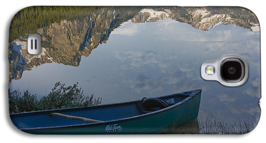 Canoe Galaxy S4 Case featuring the photograph Paddle To The Mountains by Idaho Scenic Images Linda Lantzy
