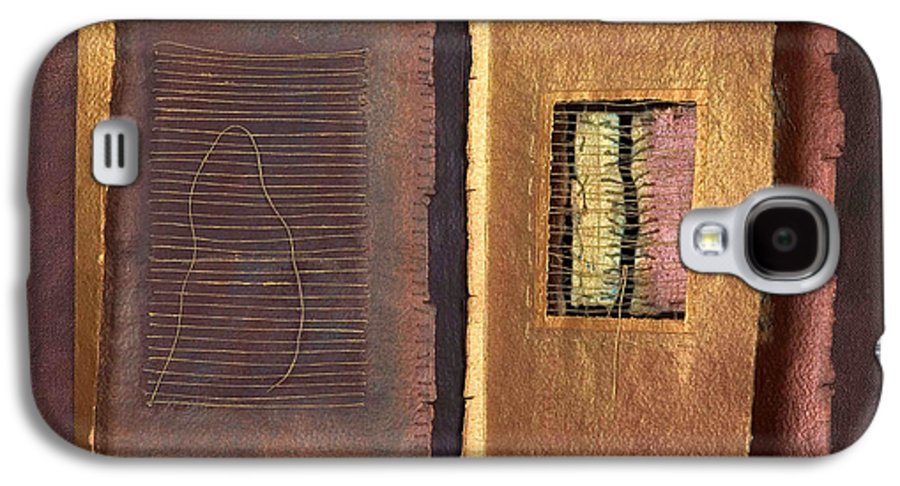 Pageformat Galaxy S4 Case featuring the painting Page Format No 2 Transitional Series by Kerryn Madsen-Pietsch