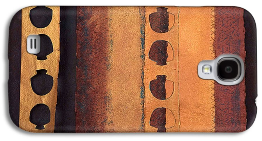 Pageformat Galaxy S4 Case featuring the mixed media Page Format No 3 Tansitional Series  by Kerryn Madsen-Pietsch