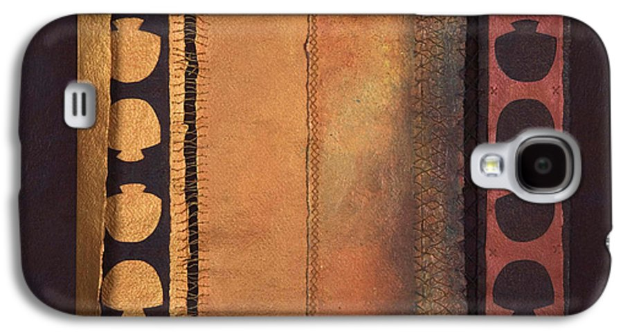 Artistbook Galaxy S4 Case featuring the painting Page Format No.4 Tansitional Series by Kerryn Madsen-Pietsch