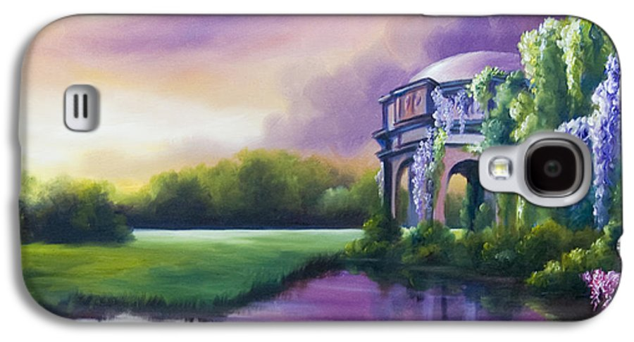 Marsh Galaxy S4 Case featuring the painting Palace Of The Arts by James Christopher Hill