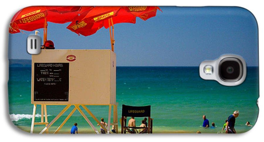 Palm Beach Sun Sea Sky Beach Umbrellas Galaxy S4 Case featuring the photograph Palm Beach Dreaming by Sheila Smart Fine Art Photography
