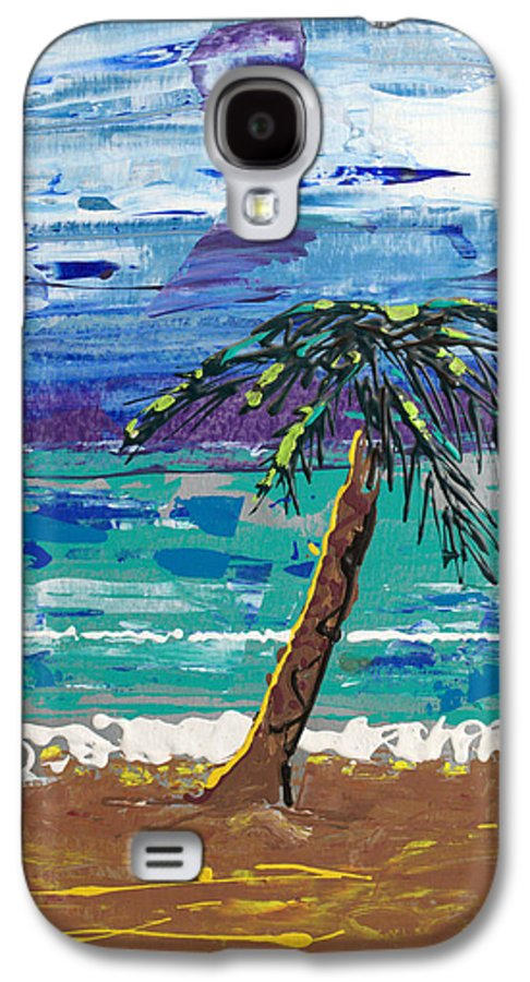 Palm Tree Galaxy S4 Case featuring the painting Palm Beach by J R Seymour