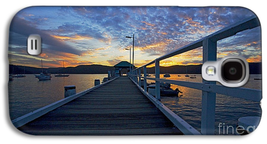 Palm Beach Sydney Wharf Sunset Dusk Water Pittwater Galaxy S4 Case featuring the photograph Palm Beach Wharf At Dusk by Sheila Smart Fine Art Photography