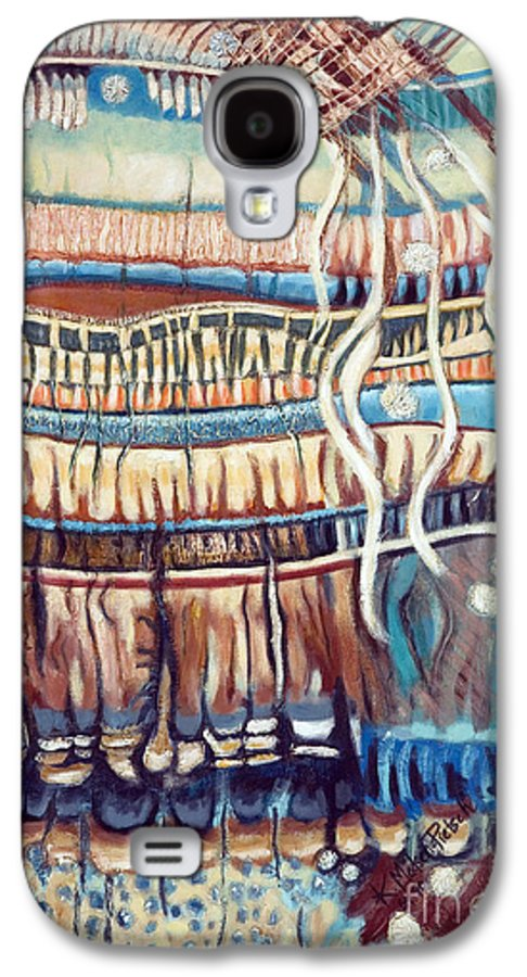 Abstract Galaxy S4 Case featuring the painting Palm Contractions by Kerryn Madsen-Pietsch