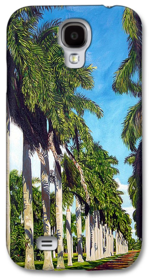 Palms Galaxy S4 Case featuring the painting Palms by Jose Manuel Abraham