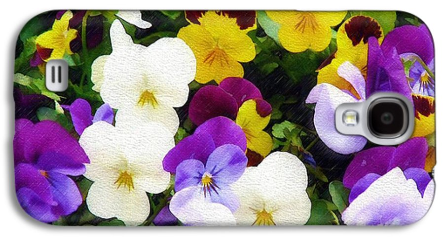 Pansies Galaxy S4 Case featuring the photograph Pansies by Sandy MacGowan