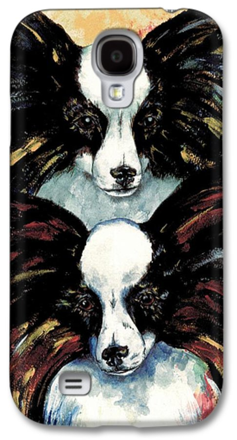 Papillon Galaxy S4 Case featuring the painting Papillon De Mardi Gras by Kathleen Sepulveda