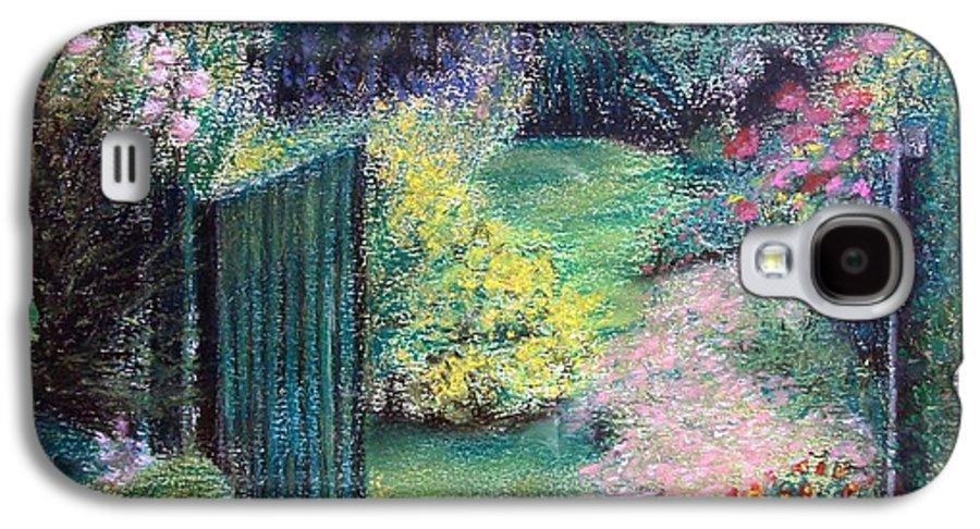 Landscape Galaxy S4 Case featuring the painting Parc by Muriel Dolemieux