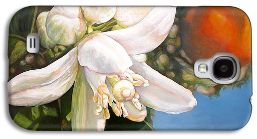 Floral Painting Galaxy S4 Case featuring the painting Parfum D by Muriel Dolemieux