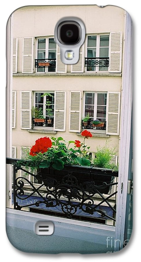 Window Galaxy S4 Case featuring the photograph Paris Day Windowbox by Nadine Rippelmeyer