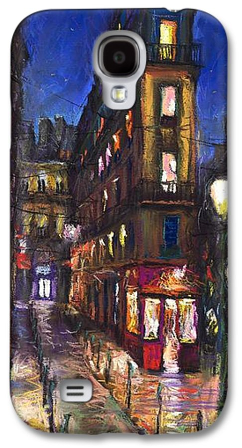 Landscape Galaxy S4 Case featuring the painting Paris Old Street by Yuriy Shevchuk
