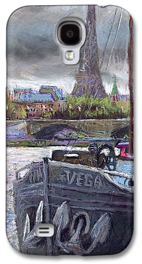Pastel Galaxy S4 Case featuring the painting Paris Pont Alexandre IIi by Yuriy Shevchuk