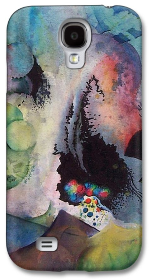 Abstract Galaxy S4 Case featuring the painting Passage Of Time by Virginia Potter
