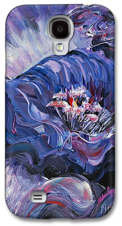 Blue Galaxy S4 Case featuring the painting Passion In Blue by Nadine Rippelmeyer
