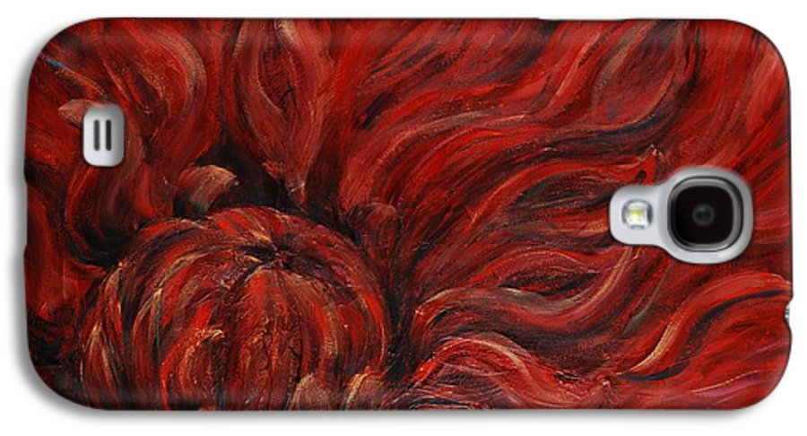 Flower Galaxy S4 Case featuring the painting Passion Iv by Nadine Rippelmeyer