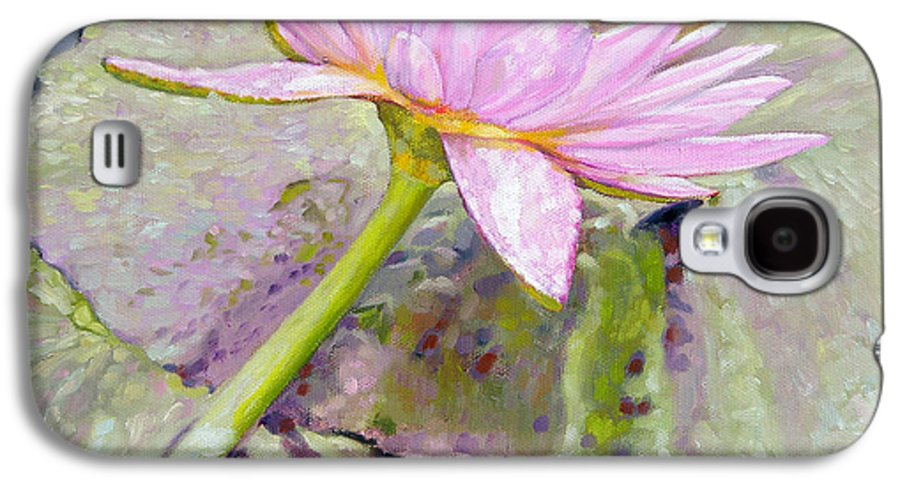 Water Lily Galaxy S4 Case featuring the painting Pastel Beauty by John Lautermilch