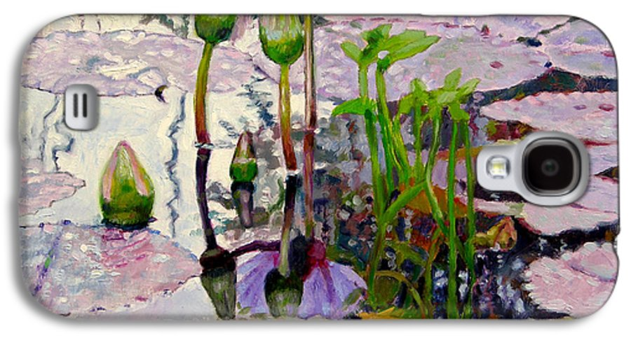 Water Lily Pond Galaxy S4 Case featuring the painting Pastel Light by John Lautermilch