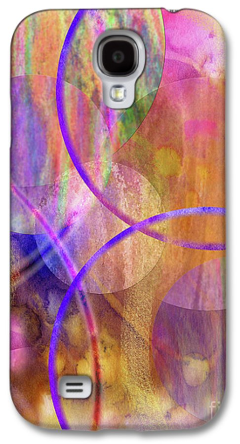 Pastel Planets Galaxy S4 Case featuring the digital art Pastel Planets by John Beck
