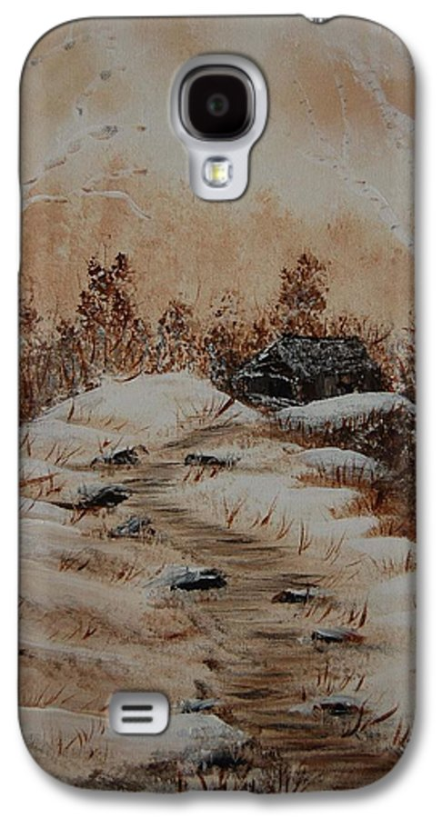 Acrylics Galaxy S4 Case featuring the painting Pathway To Freedom by Laurie Kidd