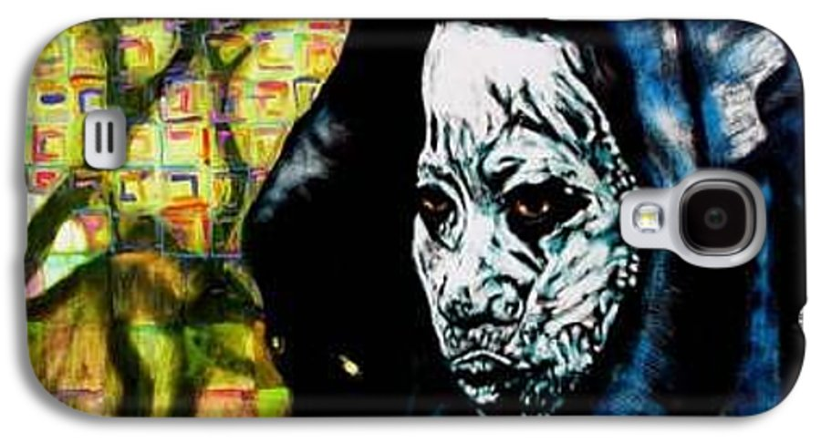 Tribal Galaxy S4 Case featuring the mixed media Pathways by Chester Elmore