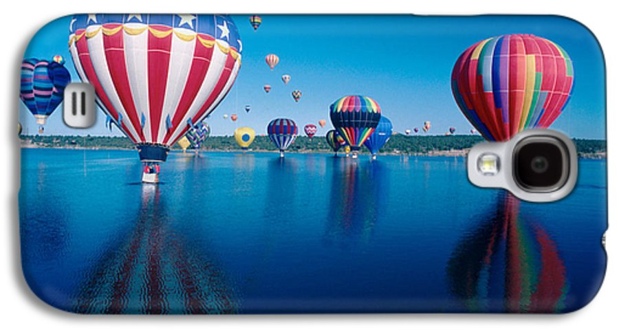 Hot Air Balloons Galaxy S4 Case featuring the photograph Patriotic Hot Air Balloon by Jerry McElroy