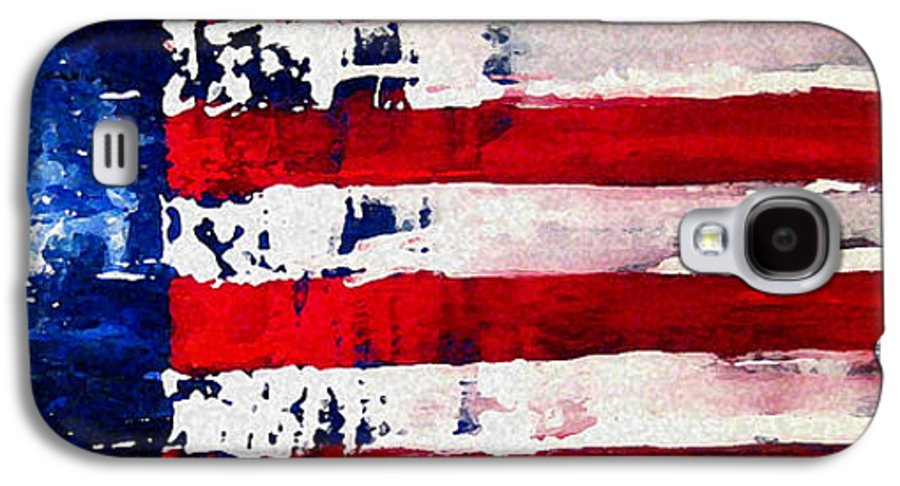 Flag Galaxy S4 Case featuring the painting Patriot's Theme by Charles Jos Biviano